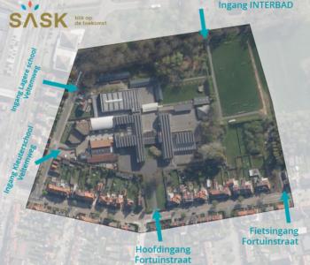 grondplan luchtfoto SASK